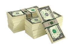 1 Dollarrekeningen Royalty-vrije Stock Fotografie