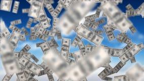 Dollarrekeningen het drijven vector illustratie