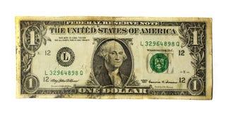 Dollars één Stock Afbeelding