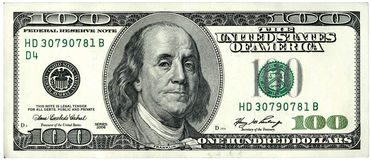 Dollars 100 Royalty Free Stock Photos