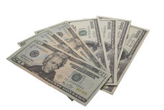 Dollars. Pack isolated on the white Royalty Free Stock Photos