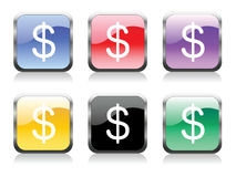 Dollars. Multi colored Dollars Vector EPS Stock Photography
