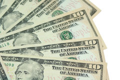 DOLLARS. BACKGROUND OF U.S. DOLLARS Royalty Free Stock Photo