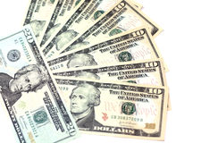 DOLLARS. BACKGROUND OF U.S. DOLLARS Royalty Free Stock Images