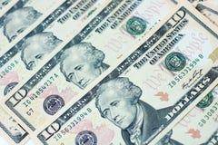 Dollars. Background of dollar bills close Royalty Free Stock Photo
