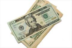Dollars. Fan of dollar bills on white background Royalty Free Stock Photo