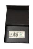 Dollars. In black box, money Stock Photography