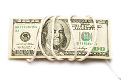 Dollars. Isolated on white background Stock Photos