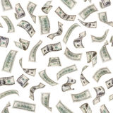 Dollars. Very many  mass currency note of dollars, boundless square background, isolated Royalty Free Stock Images