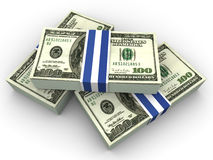 Dollars. Very beautiful three-dimensional illustration, figure.Dollars. 3d stock illustration