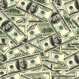 Dollars. Seamless color Dollars wallpaper background Stock Image