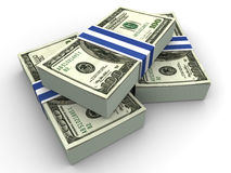 Dollars. Very beautiful three-dimensional illustration, figure. Dollars. 3d Stock Image