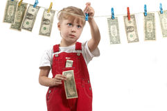 With dollars Stock Image