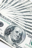 Dollars. American money isolated on white stock photos