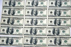 Dollars. American dollars like table - cloth Royalty Free Stock Photography