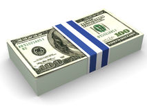 Dollars. 3d. Very beautiful three-dimensional illustration, figure. Dollars. 3d Royalty Free Stock Photography