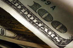 Dollars. Close up royalty free stock image