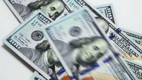 Dollars stock footage