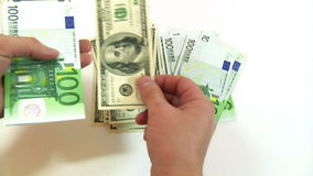 Dollars stock video