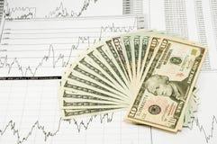 Dollars. Stack dollars bills closeup. Finance money concept Royalty Free Stock Photos