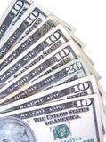 Dollars. Ten and twenty stock photos