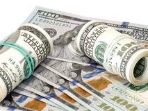 Dollars, achtergrond Stock Afbeeldingen