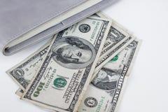 Dollars américains d'argent Photographie stock libre de droits