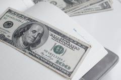 Dollars américains d'argent Photographie stock