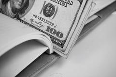 Dollars américains d'argent Photos libres de droits