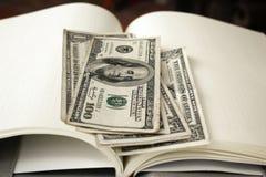 Dollars américains d'argent Images libres de droits