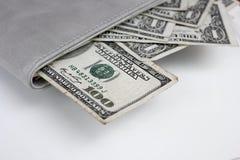 Dollars américains d'argent Photo libre de droits