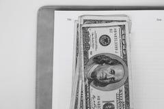 Dollars américains d'argent Image stock