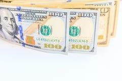 Dollars américains d'argent d'argent liquide Photos stock