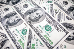 Dollars américains dans les dénominations de 100 Image stock