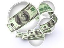 Dollars américains magnifiés Photo stock