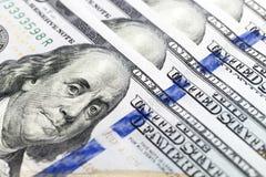 Dollars américains, plan rapproché Photo libre de droits