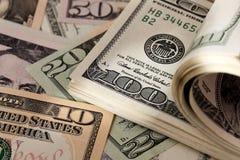 Dollars. American bank Royalty Free Stock Photo