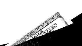 100 dollars. 100 american dollars banknote in black purse Stock Images