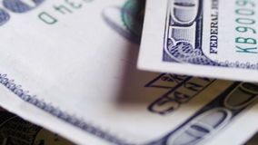 Dollars, American Banknotes Rotate stock video