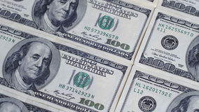 Dollars, American Banknotes Rotate stock video footage