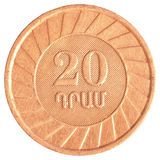 20 dollars arméniens de pièce de monnaie Image stock