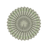 The dollars art. The one hundred dollar for decorate royalty free stock photos