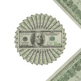 The dollars art. The one hundred dollar for decorate stock photos