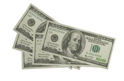 The dollars art. The one hundred dollar for decorate royalty free stock photo