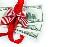 Dollars as a Gift Royalty Free Stock Photography
