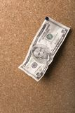 dollars attached to a wooden board Royalty Free Stock Images