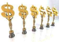 DollarS_Award Fotografia de Stock Royalty Free