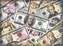 Dollars background Stock Photos