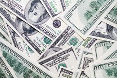 Dollars background Stock Photo