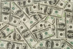 Dollars background Stock Photos